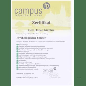 Psychologischer Berater Florian Günther Berlin Hypnose