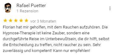 Rafael Bewertung für Berlin Hypnose Florian Günther